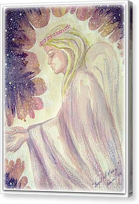 Canvas Print featuring the painting Angel Of Mercy by Leanne Seymour