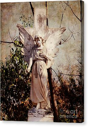 Angel Of Old Canvas Print by Sonja Quintero
