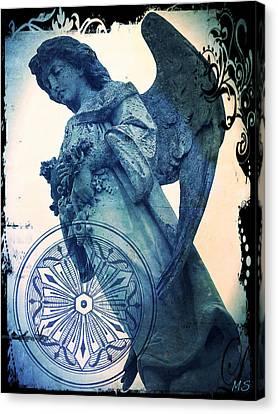 Angel Of Peace - Art Nouveau Canvas Print