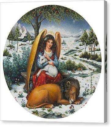 Snow Landscape Canvas Print - Angel Of Peace by Lynn Bywaters