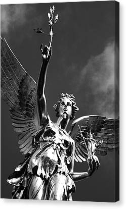 Angel Of Peace Canvas Print by Marc Huebner
