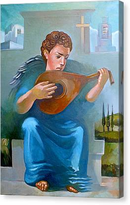 Lute Canvas Print - Angel Of Recession by Filip Mihail