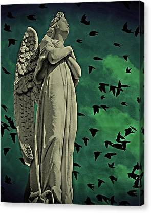 Canvas Print featuring the photograph Angel Of Stone by David Dehner