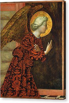 Angel Of The Annunciation Canvas Print by Masolino da Panicale