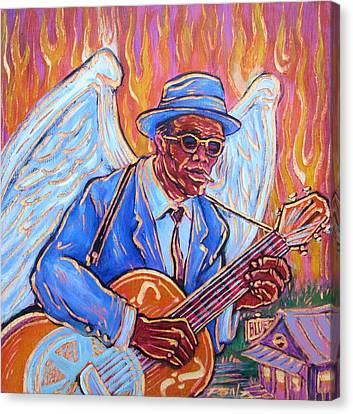 Angel Of The Blues Canvas Print by Robert Ponzio