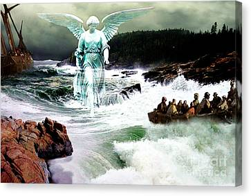 Angel Of The Storm  Canvas Print by Lianne Schneider