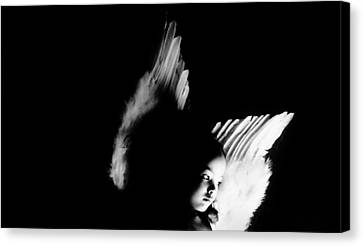 Canvas Print featuring the photograph Angel Of Thought  by Jessica Shelton