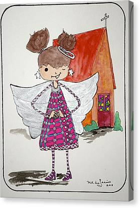 Angel Or- Canvas Print by Mary Kay De Jesus