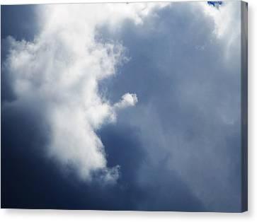 Cloud Angel Kneeling In Prayer Canvas Print