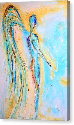 Angel Painting Canvas Print by Ivan Guaderrama
