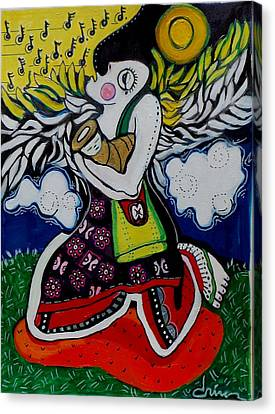 Angel Protection Canvas Print by Charlotte Driver