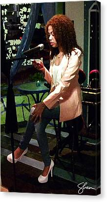 Angel Reciting Poetry Canvas Print by Shawn Lyte