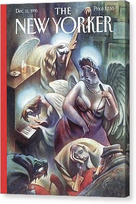 Angel Singing Canvas Print by Carter Goodrich