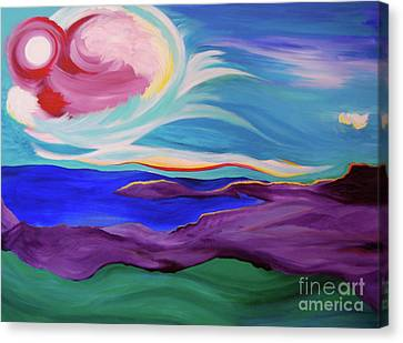 Canvas Print featuring the painting Angel Sky by First Star Art