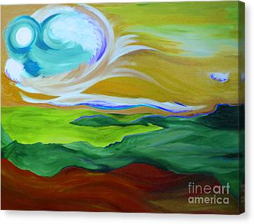 Angel Sky Green By Jrr Canvas Print by First Star Art