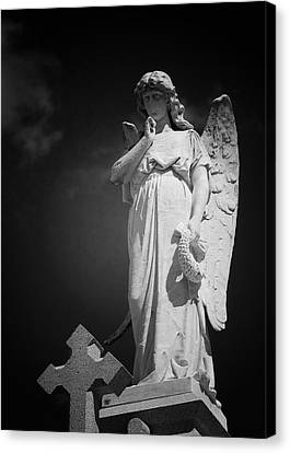 Angel St Louis Cemetery No 3 New Orleans Canvas Print by Christine Till