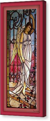 Angel Stained Glass Window Canvas Print by Thomas Woolworth