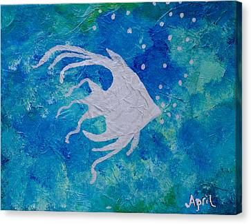 Angel Swam By Canvas Print by April Moran