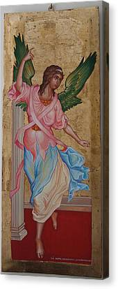Angel  The Annunciation Canvas Print by Charalampos Gkolfinopulos