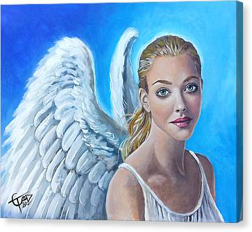 Angel Canvas Print by Tom Carlton