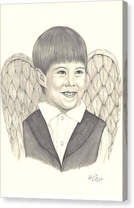 Canvas Print featuring the drawing Angel Too by Patricia Hiltz