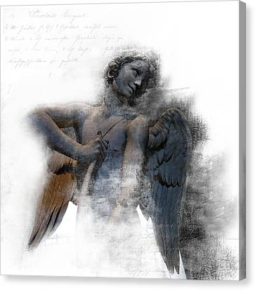 Angel Warrior Canvas Print by Evie Carrier