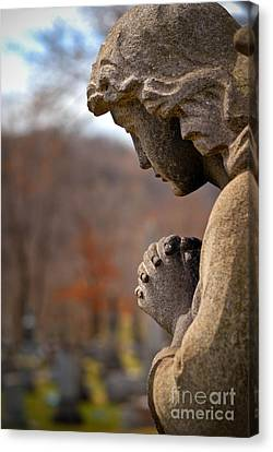Headstones Canvas Print - Angel Watching Over by Amy Cicconi