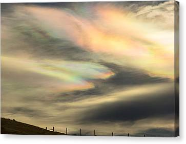 Angel Wings In Rainbow Clouds Canvas Print