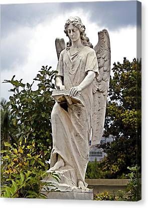 Angel With Book Canvas Print by Terry Reynoldson