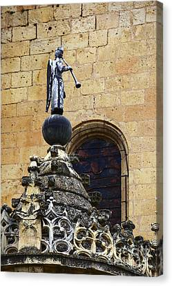Angel With Trumpet Segovia Canvas Print by James Brunker