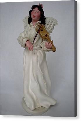 Angel With Violine Canvas Print by Natalia Elerdashvili