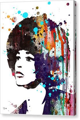 Angela Davis Canvas Print by Luke and Slavi