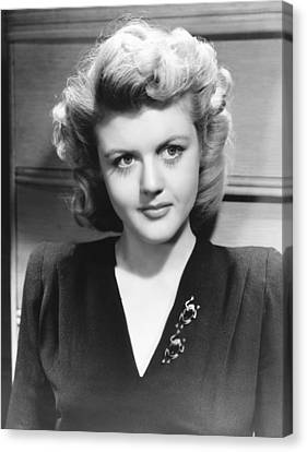 Angela Lansbury, Mid To Late 1940s Canvas Print by Everett
