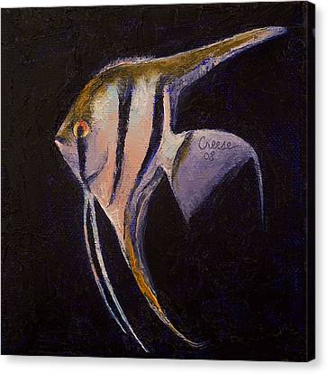Angelfish Canvas Print by Michael Creese