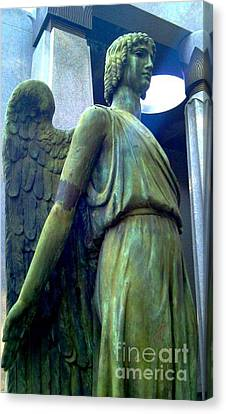 Canvas Print featuring the photograph Angelic Guard by Michael Hoard