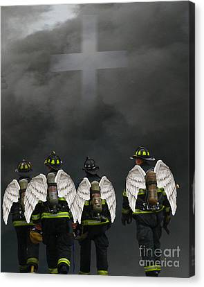 Angelic Heroes Canvas Print
