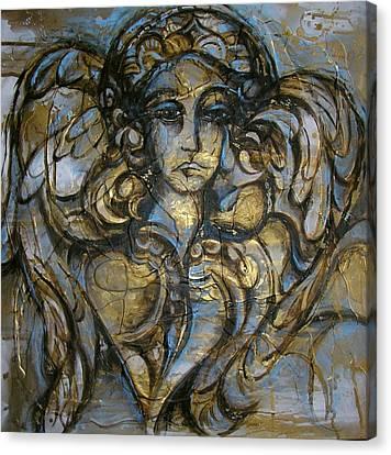 Angelic Sorrow Canvas Print by Julie Lee