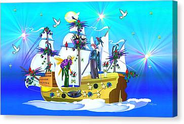 Angelic Voyage Canvas Print by Mary Anne Ritchie
