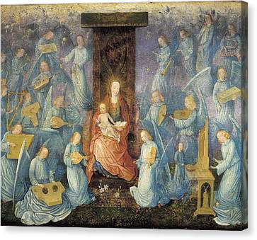 Lute Canvas Print - Angelical Concert. 15th-16th C. Flemish by Everett