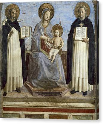 Angelico, Fra 1387-1455. The Virgin Canvas Print by Everett