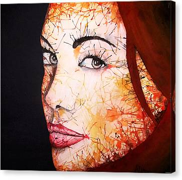 Angelina Canvas Print by Atinderpal Singh