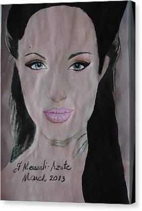 Angelina Canvas Print by Fladelita Messerli-