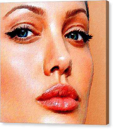 Gold Star Mother Canvas Print - Angelina Jolie Acrylic On Canvas by Tony Rubino