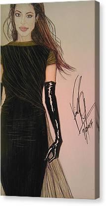 Angelina Jolie In Victoria's Fashion Canvas Print by Vicki  Jones