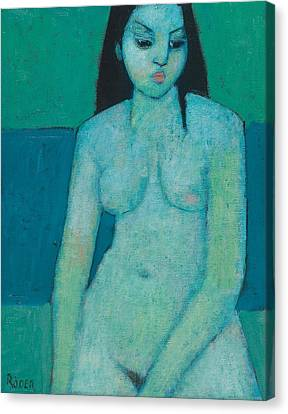 Angelina Nude Canvas Print by Endre Roder