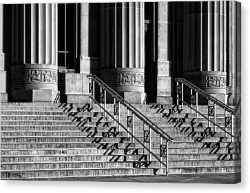 Angell Hall Steps Canvas Print by James Howe