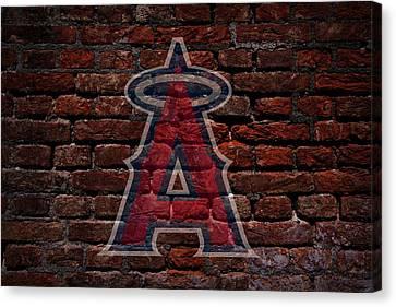 Centerfield Canvas Print - Angels Baseball Graffiti On Brick  by Movie Poster Prints