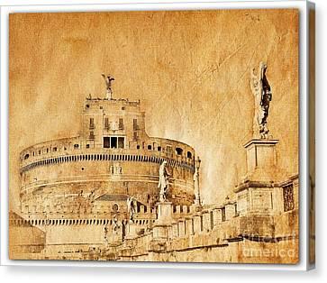 Angels Bridge And Castle Canvas Print by Stefano Senise