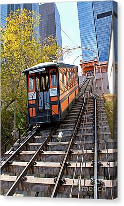 Angels Flight Railway Canvas Print by Gregory Dyer
