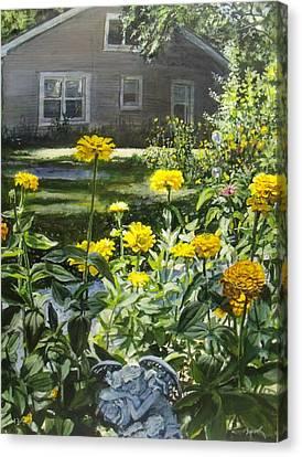 Angels In My Yard Canvas Print